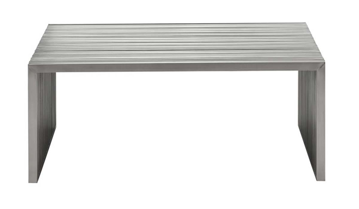 Zuo Modern Novel Square Coffee Table - Stainless Steel