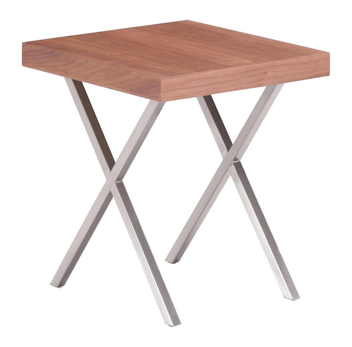 Zuo Modern Renmen Side Table - Walnut