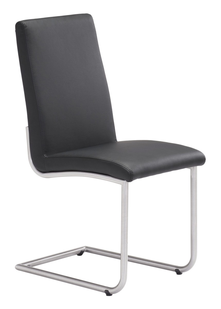 Zuo modern mont royal dining chair black zm 100131 at for Dining chairs for less