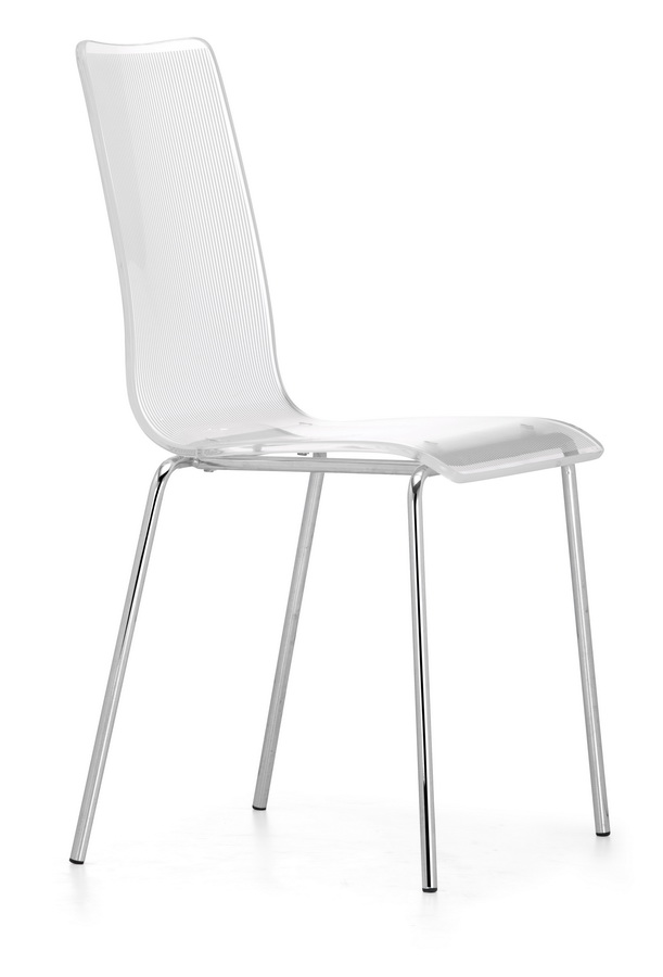 Stripy Chair - White - Zuo Modern