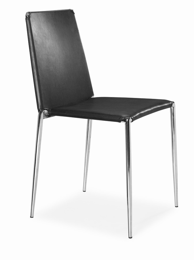 Zuo modern alex dining chair black zm 101105 at for Dining chairs for less