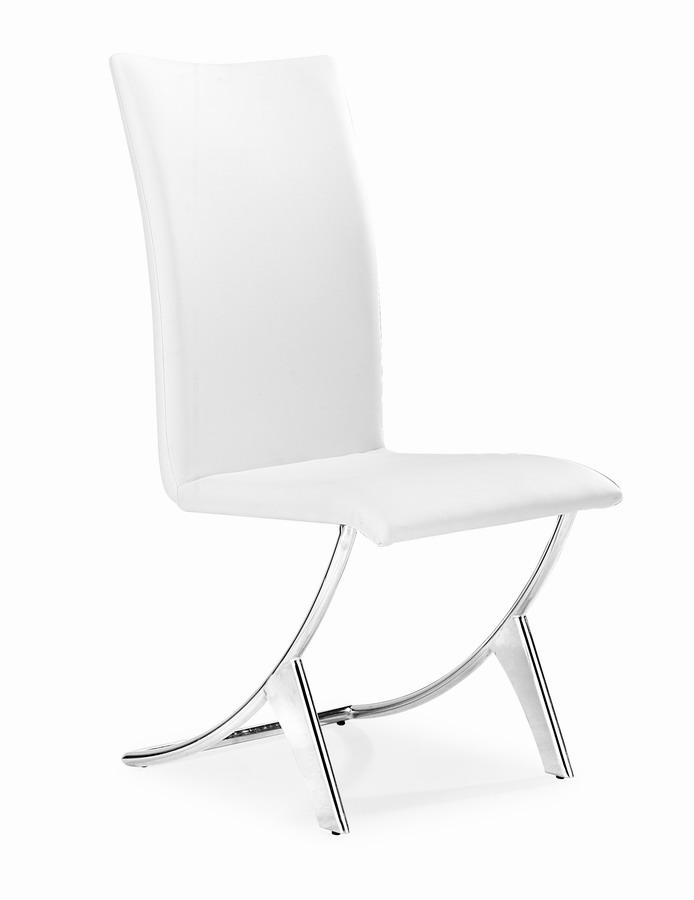 Zuo Modern Delfin Dining Chair - White