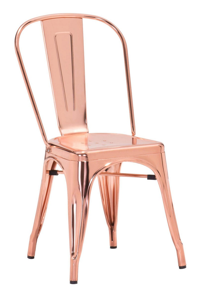 Zuo Modern Elio Dining Chair - Rose Gold