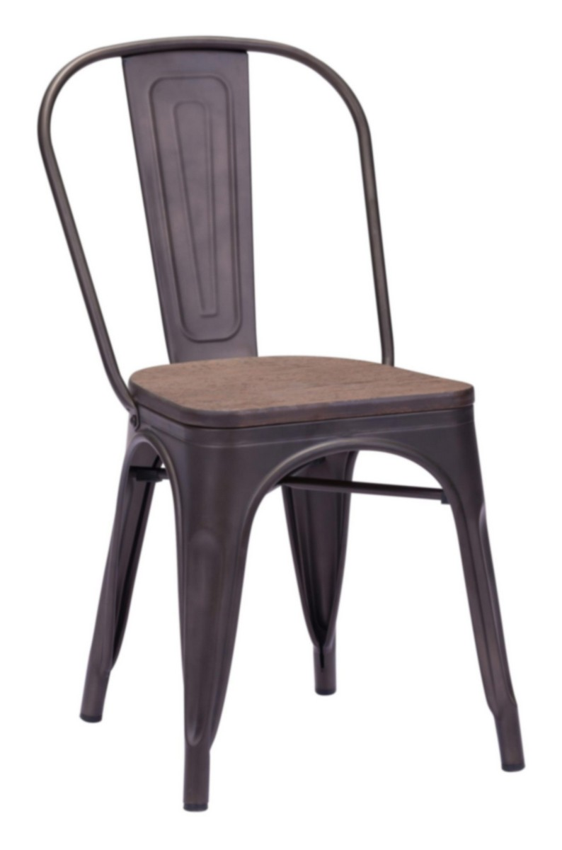 Zuo Modern Elio Dining Chair - Rustic Wood
