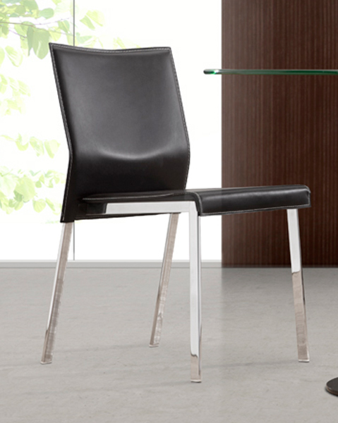 Zuo modern boxter dining chair black zm 109100 at for Dining chairs for less