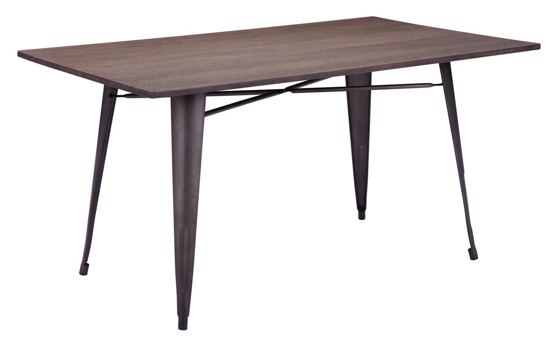 Zuo Modern Titus Rectangular Dining Table - Rustic Wood
