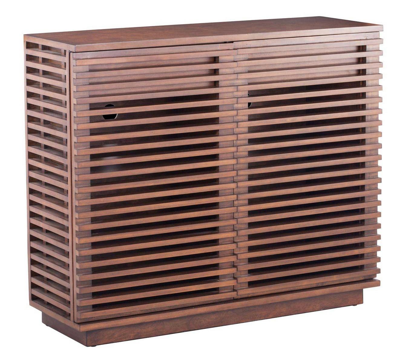 Zuo Modern Linea Cabinet - Walnut