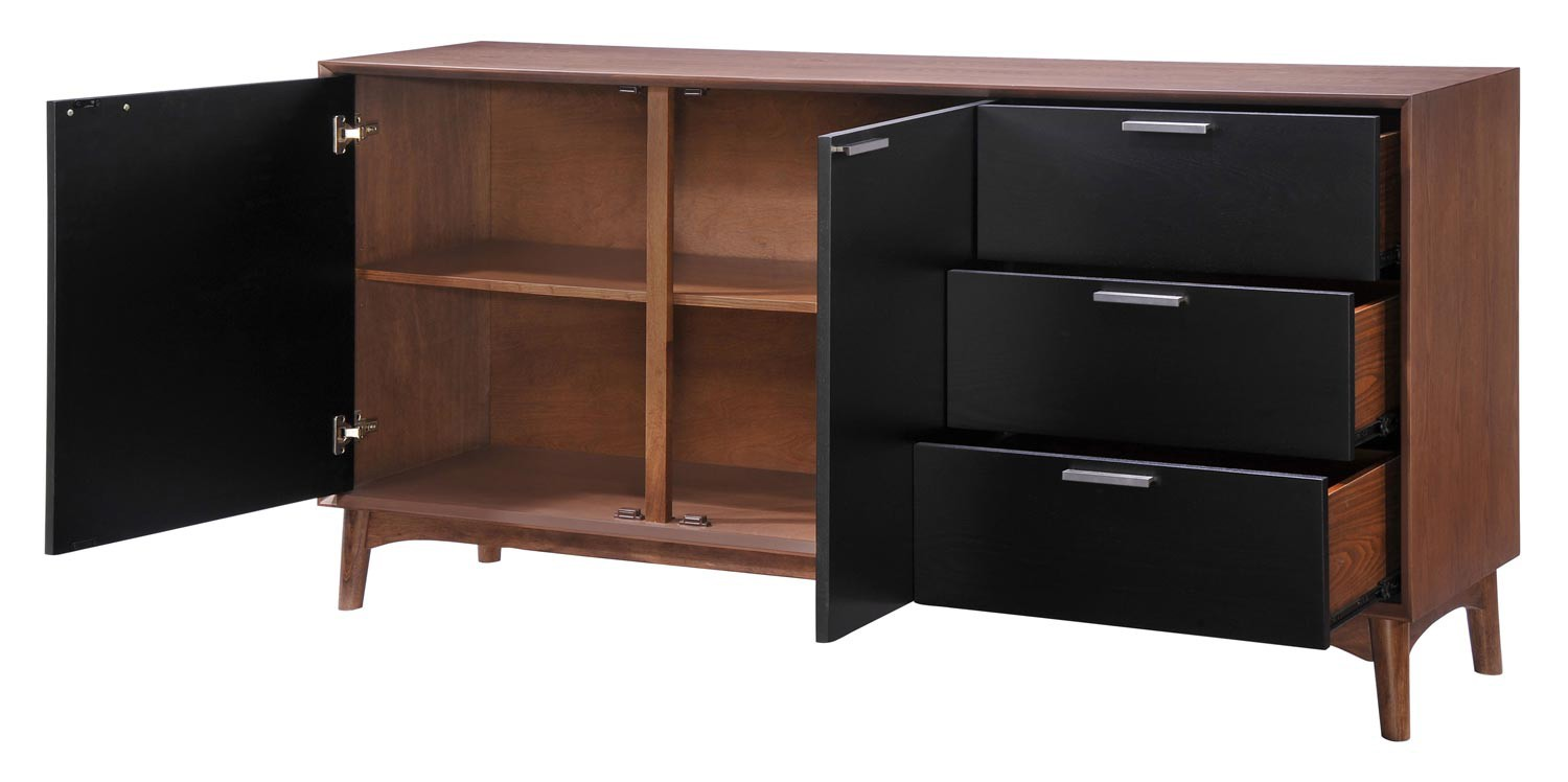 Zuo Modern Liberty City Buffet - Walnut/Black