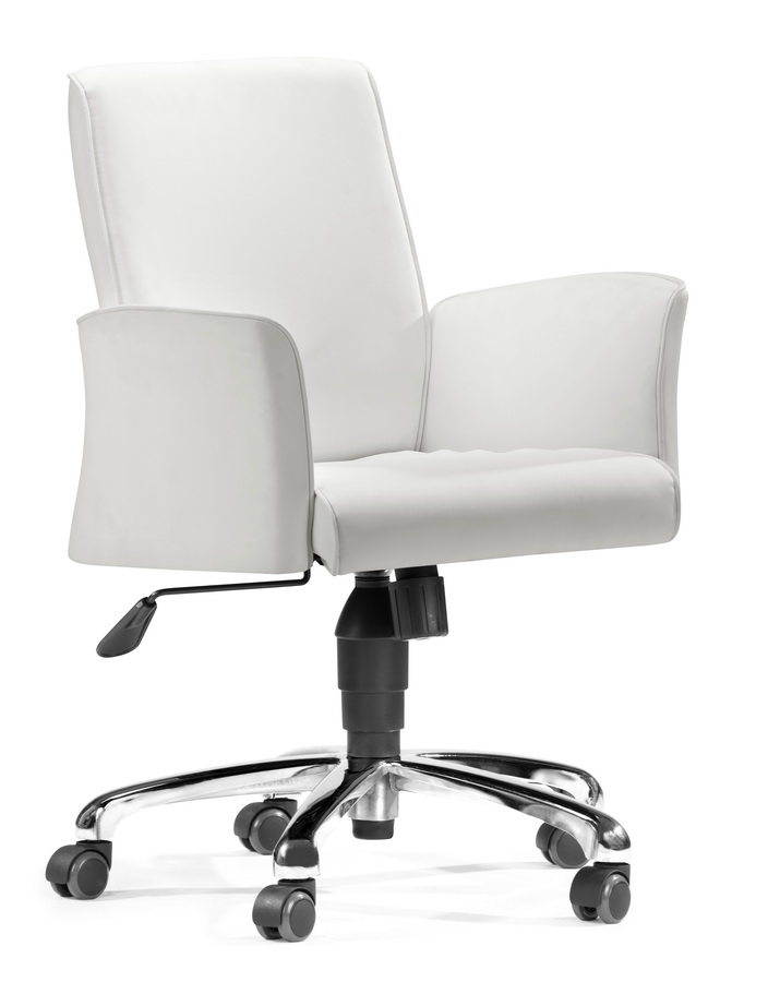 Metro Office Chair - White - Zuo Modern