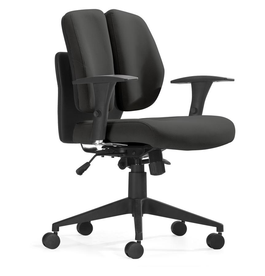 Zuo Modern Aqua fice Chair Black Mesh Modern