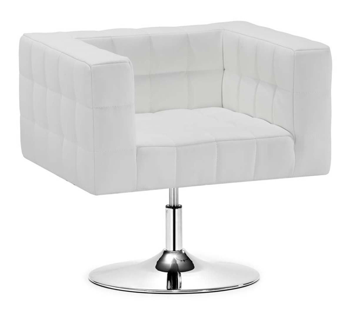 zuo modern cubo office chair white 205357. Black Bedroom Furniture Sets. Home Design Ideas