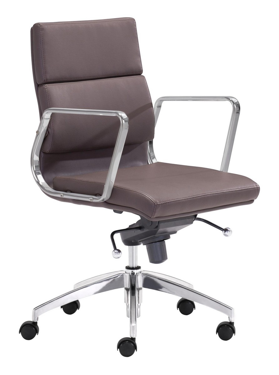Zuo Modern Engineer Low Back Office Chair - Espresso
