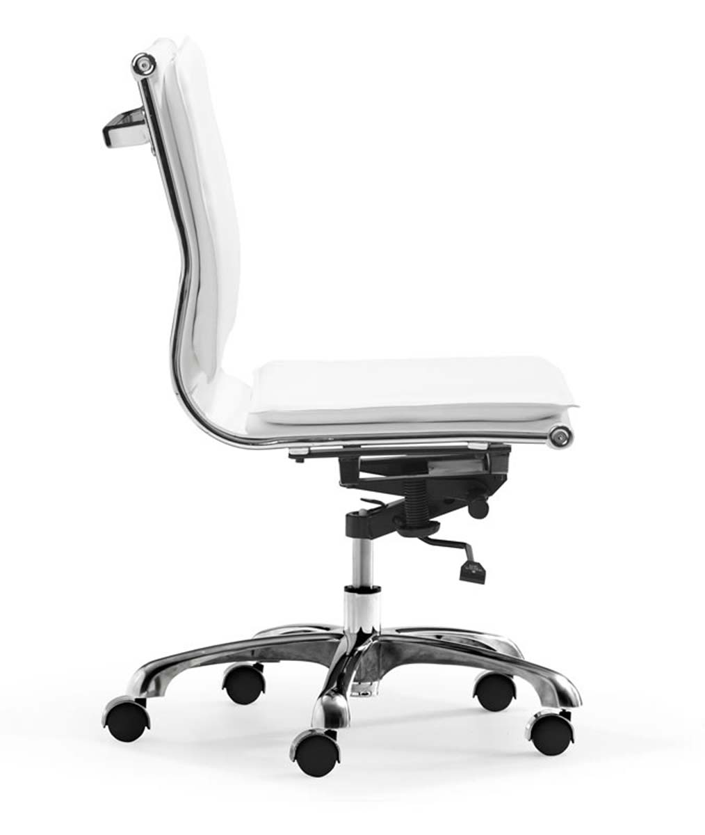 Zuo Modern Lider Plus Armless Office Chair - White  sc 1 st  Homelement.com & Zuo Modern Lider Plus Armless Office Chair - White ZM-215219 at ...