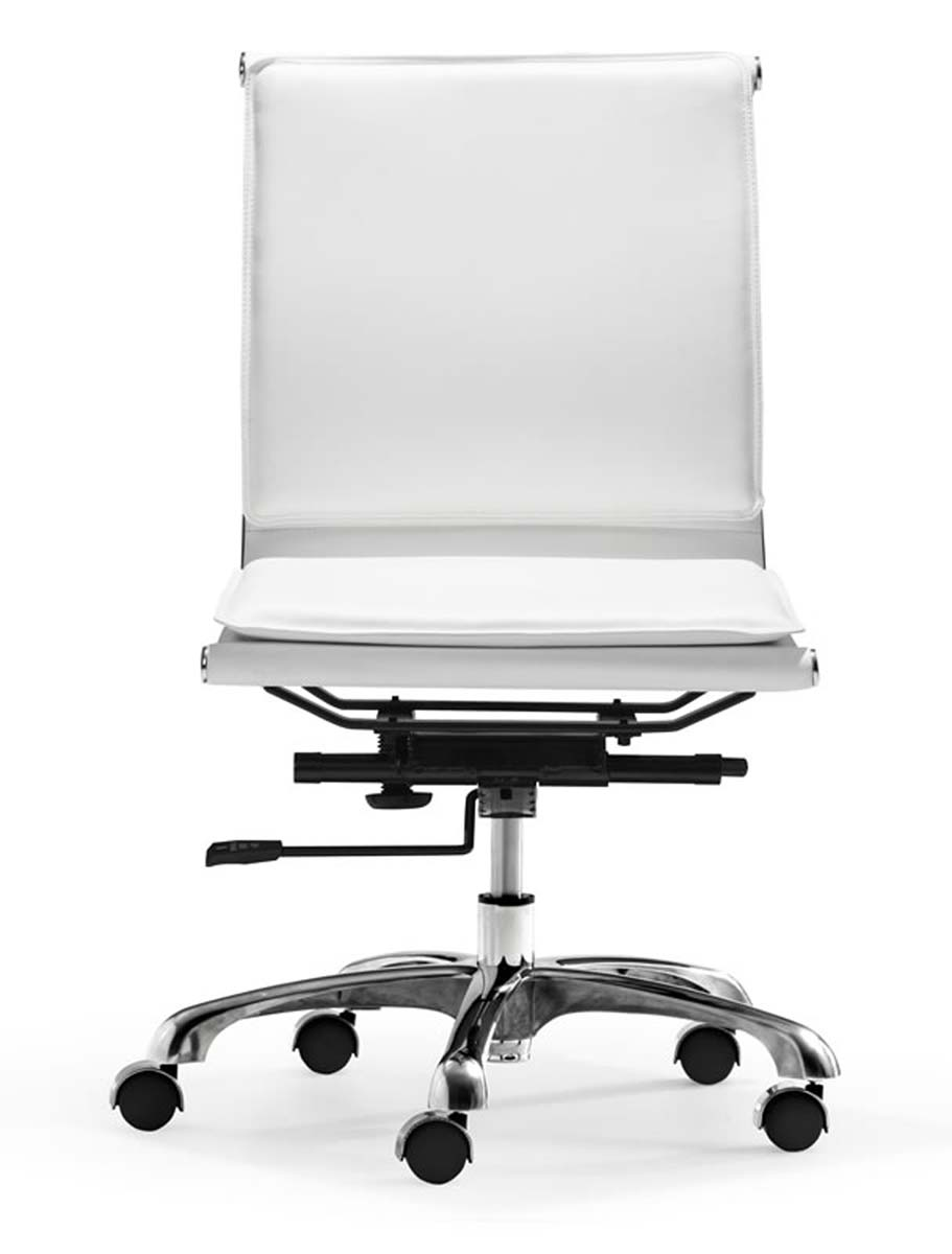 zuo modern lider plus armless office chair white zm