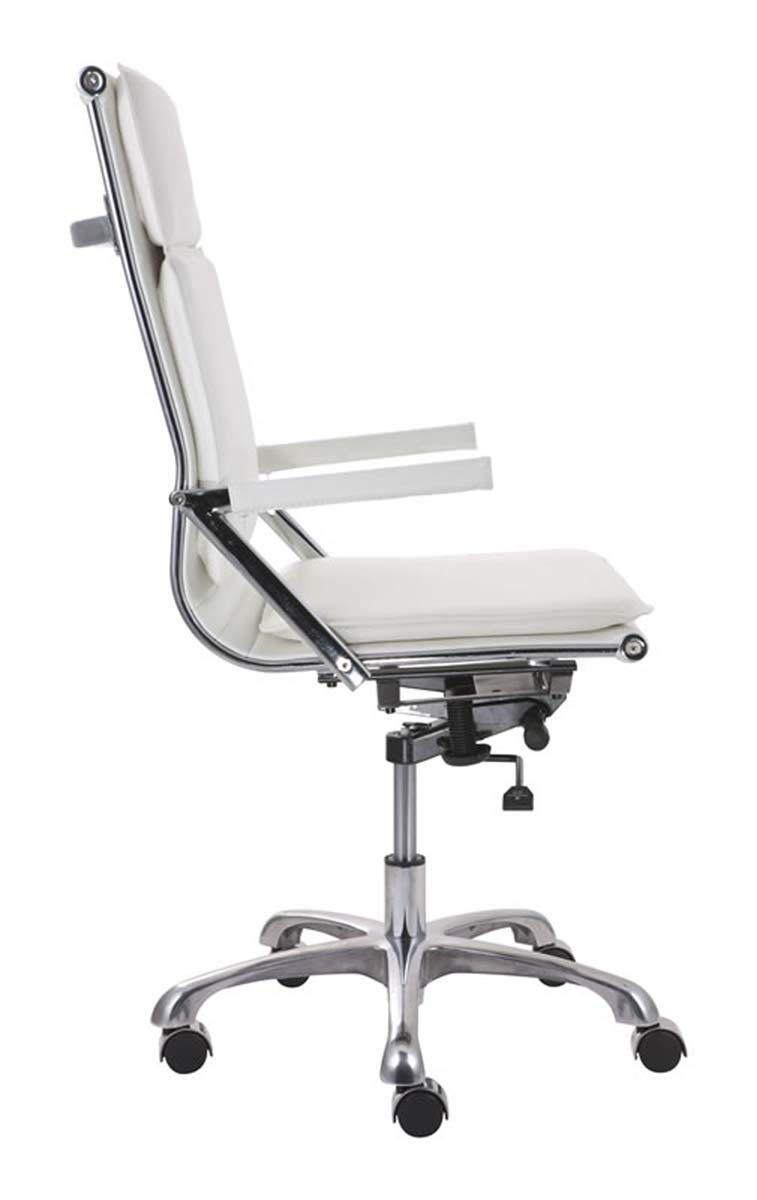 zuo modern lider plus high back office chair white zm 215232 at. Black Bedroom Furniture Sets. Home Design Ideas