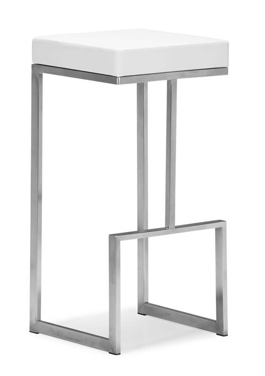 Zuo Modern Darwen Bar Chair - White