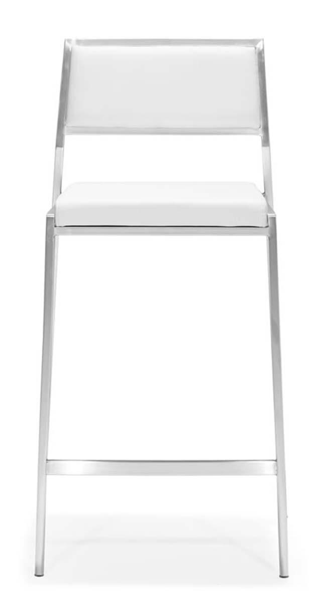 Zuo Modern Dolemite Counter Chair - White