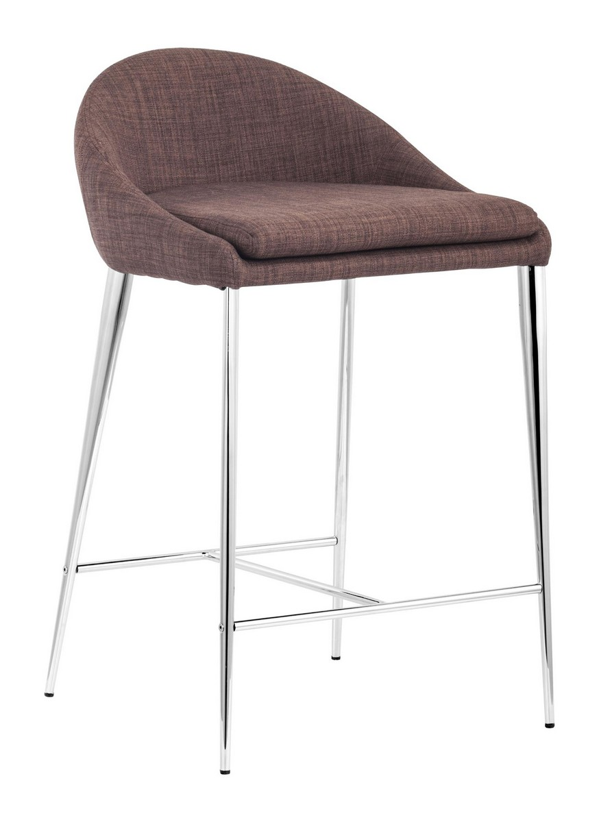 Zuo Modern Reykjavik Counter Chair - Tobacco