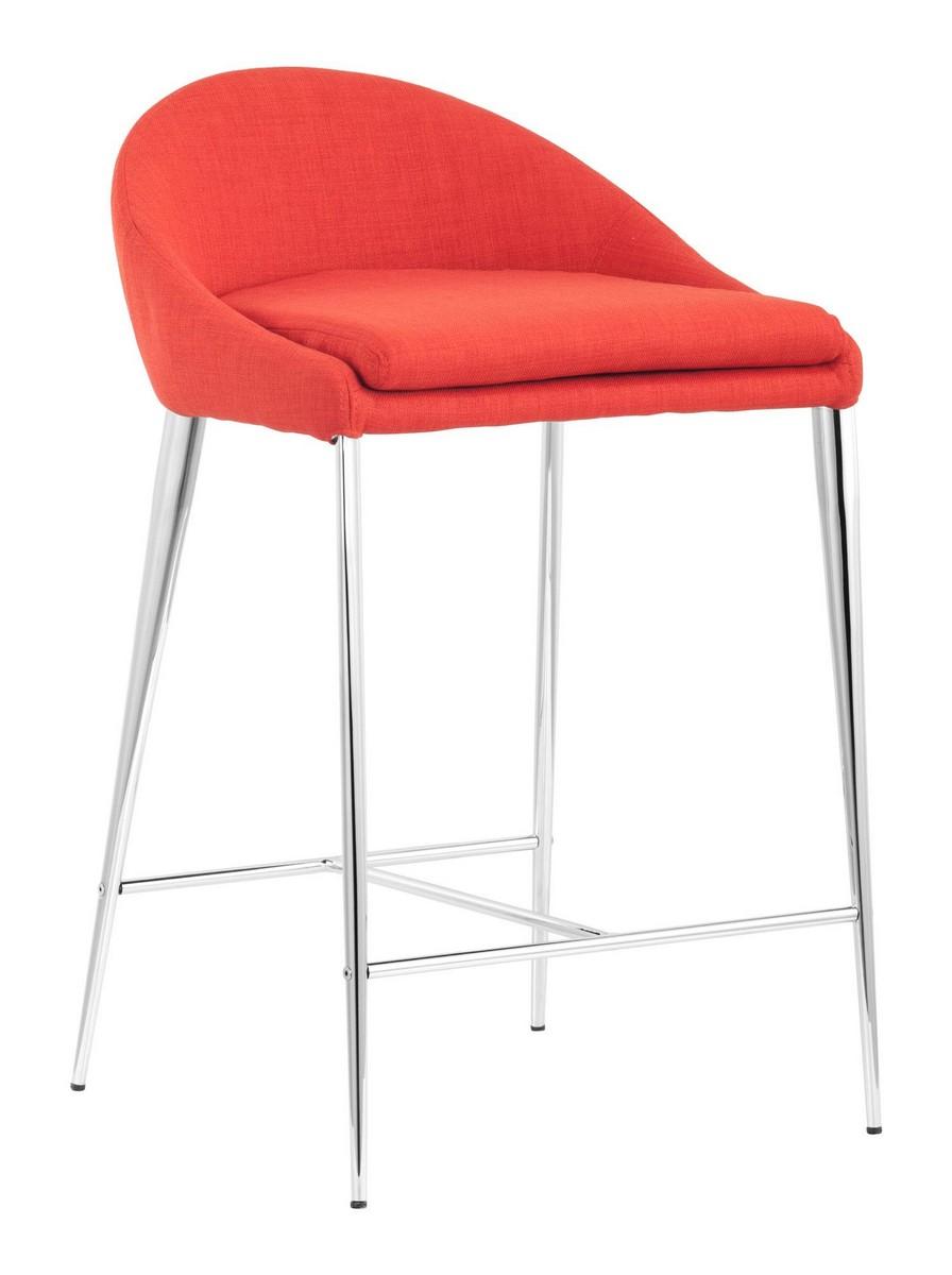 Zuo Modern Reykjavik Counter Chair - Tangerine