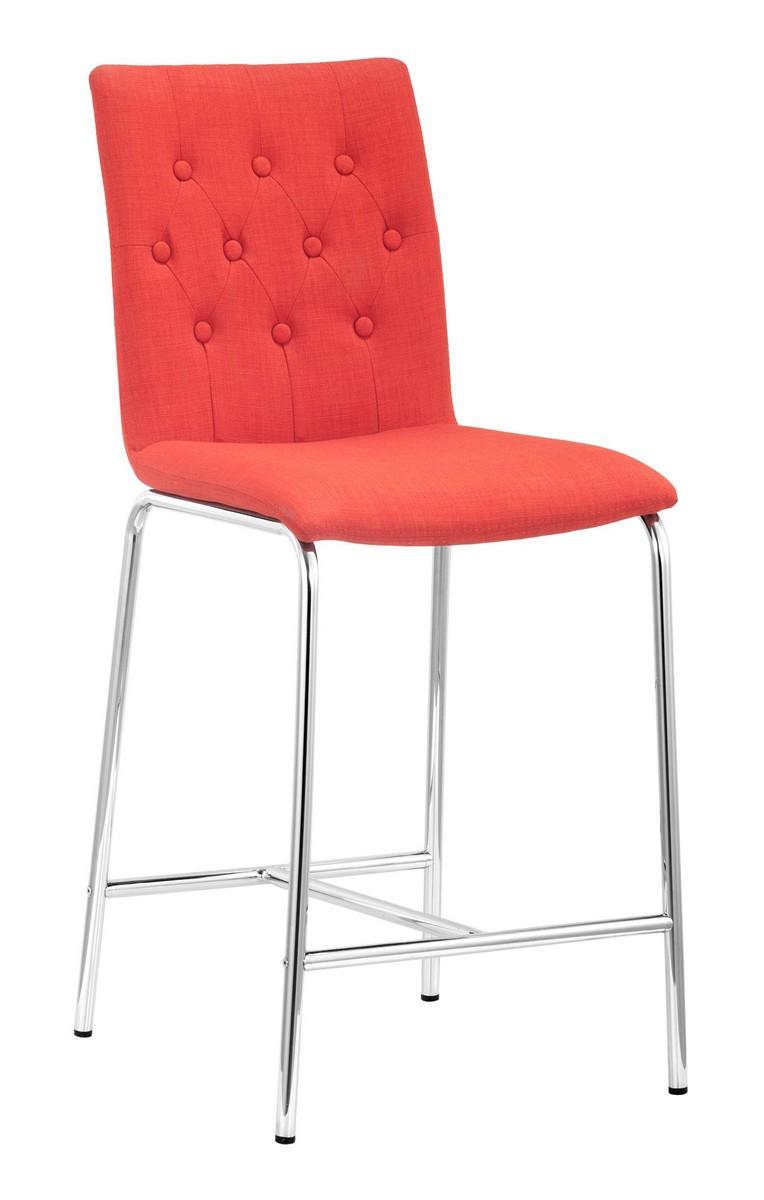 Zuo Modern Uppsala Counter Chair - Tangerine