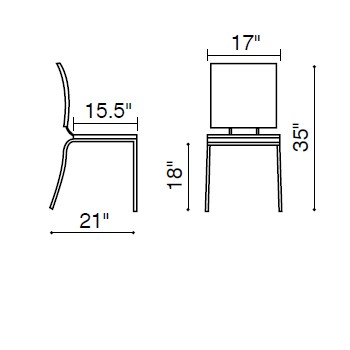 Zuo Modern Criss Cross Dining Chair - Espresso