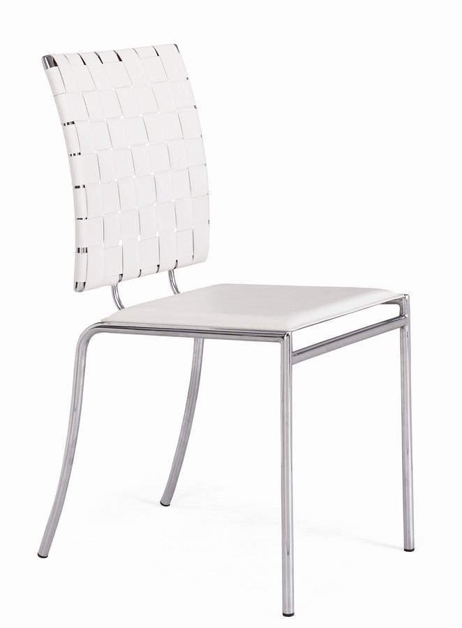Zuo Modern Criss Cross Dining Chair - White