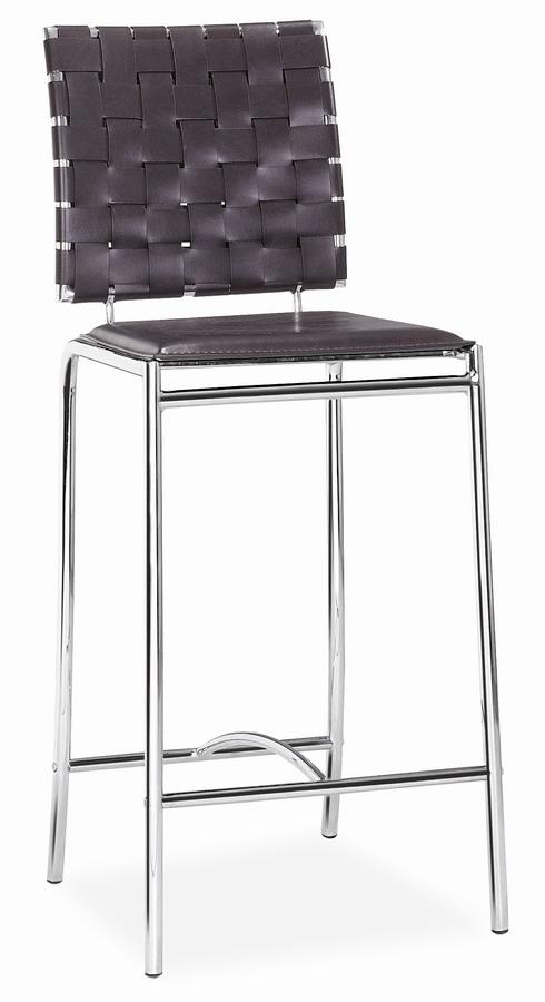Zuo Modern Criss Cross Counter Chair - Espresso