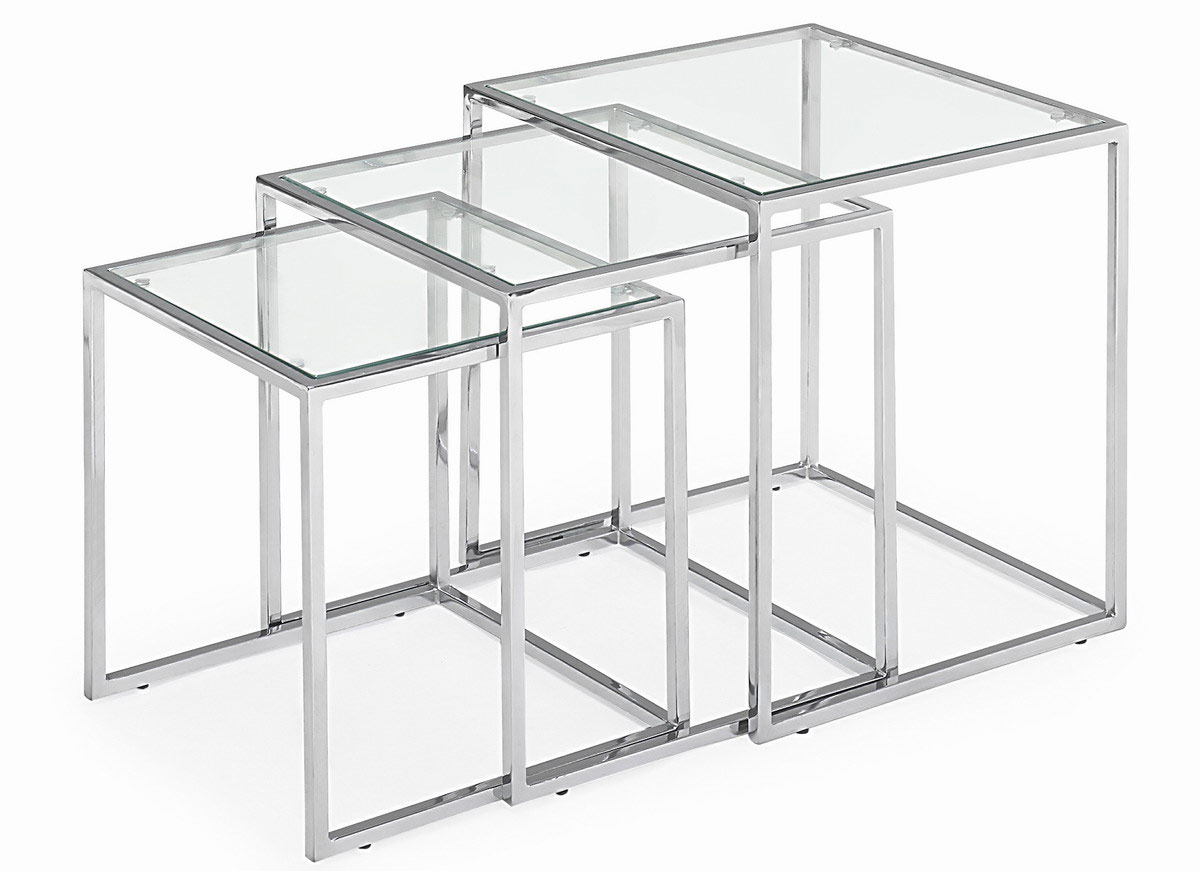 Pasos Nesting Tables - Clear - Zuo Modern