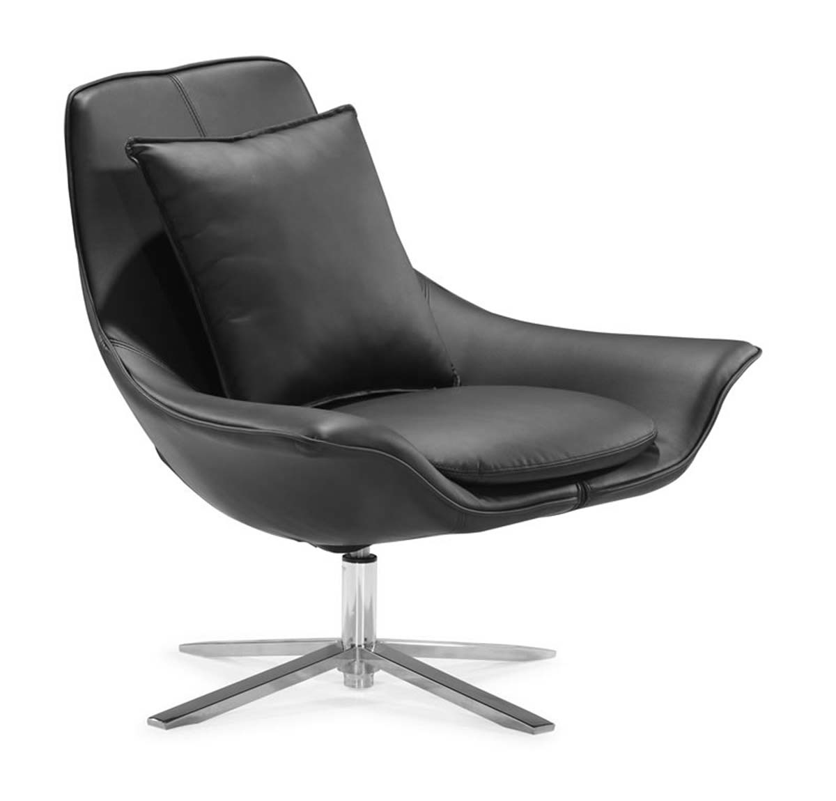 Zuo Modern Vital Lounge Chair - Black