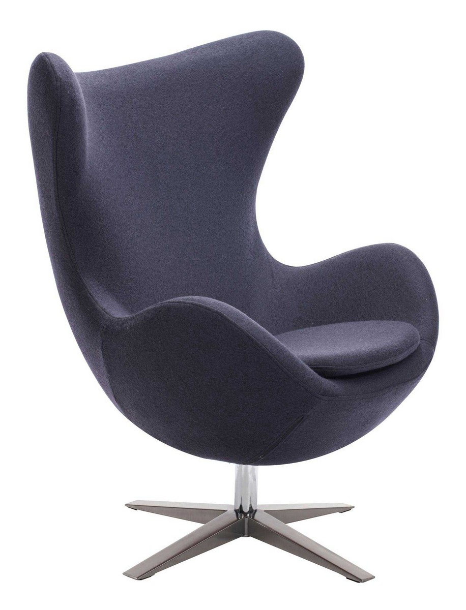 Zuo Modern Skien Occasional Chair - Iron Gray