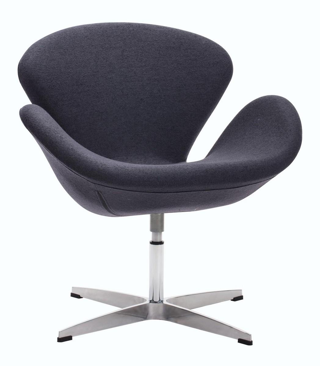 Zuo Modern Pori Occasional Chair - Iron Gray