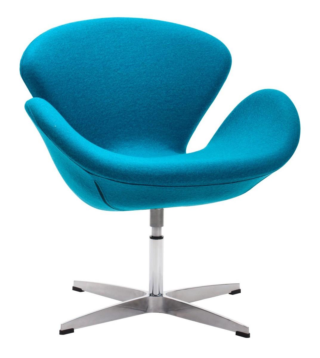 Zuo Modern Pori Occasional Chair - Island Blue
