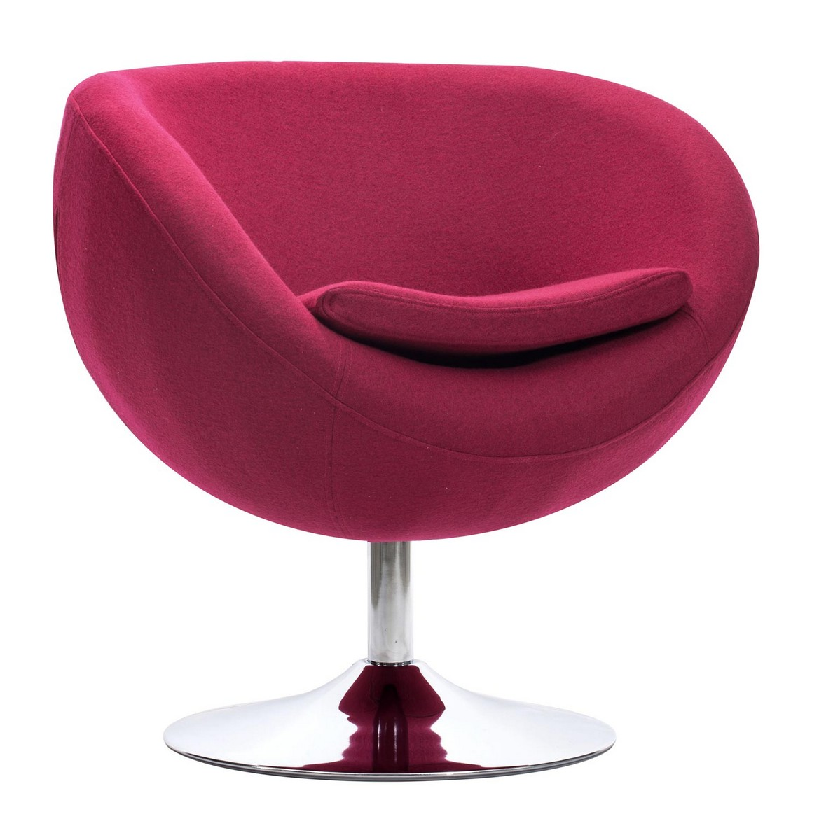 Zuo Modern Lund Occasional Chair - Carnelian Red