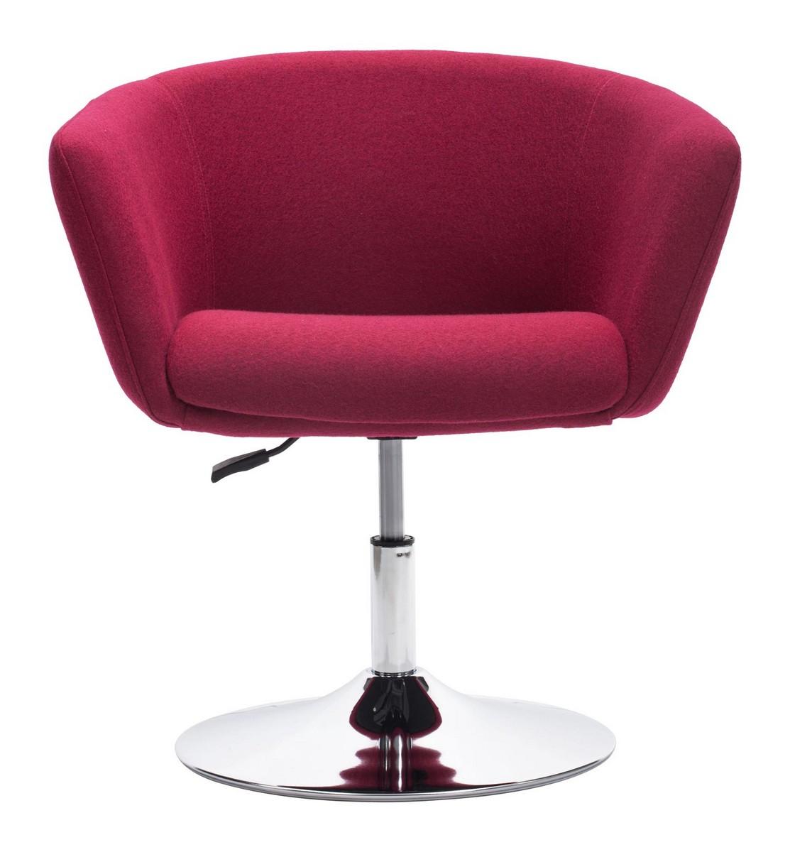 Zuo Modern Umea Occasional Chair - Carnelian Red
