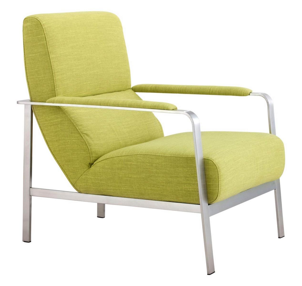 Zuo Modern Jonkoping Arm Chair - Lime