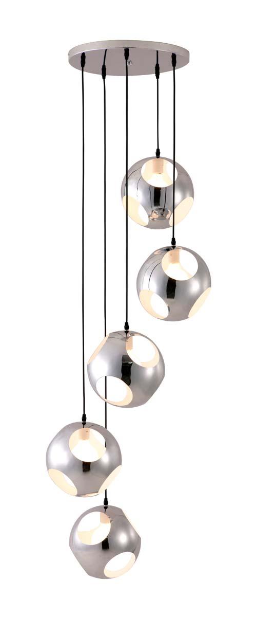 Zuo Modern Meteor Shower Ceiling Lamp - Chrome