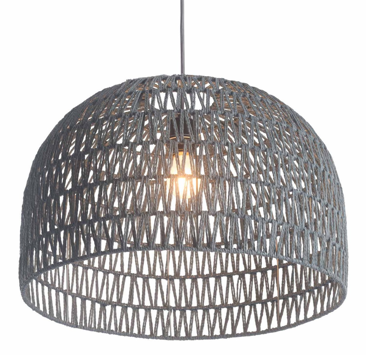 Zuo Modern Paradise Ceiling Lamp - Gray