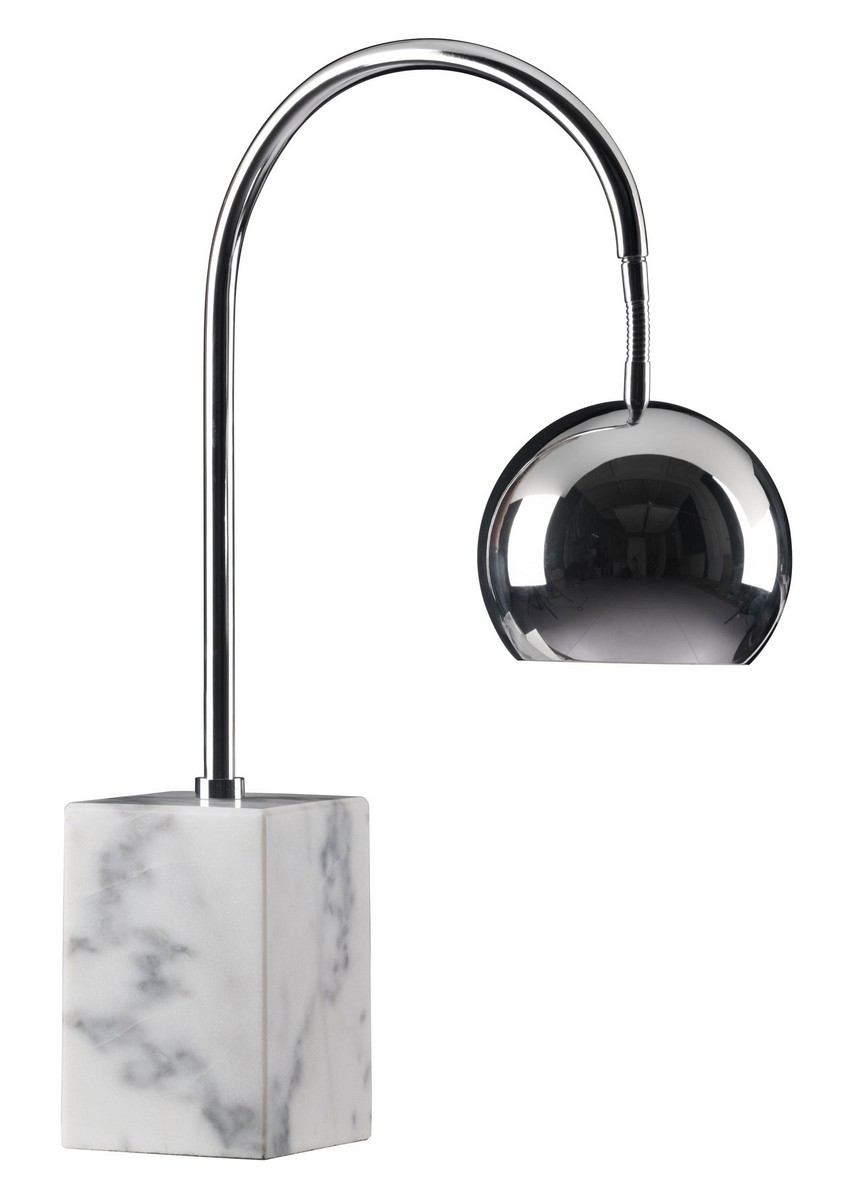 Zuo Modern Run Table Lamp - Chrome