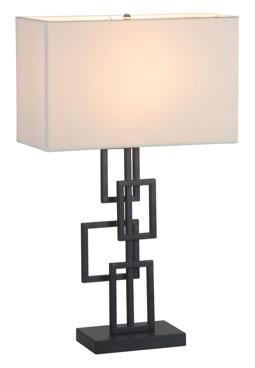Zuo Modern Step Table Lamp - White/Black