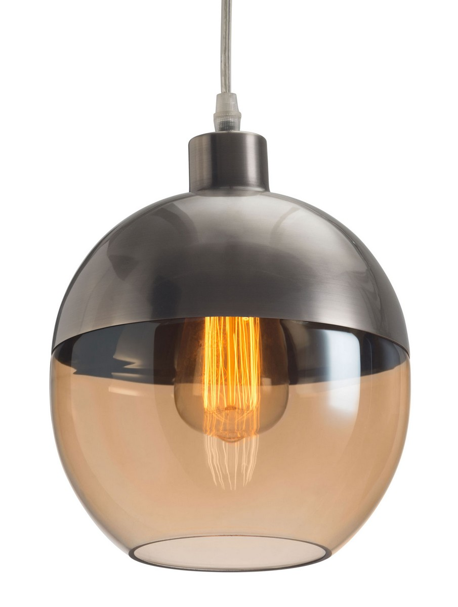 Zuo Modern Trente Ceiling Lamp - Satin/Amber