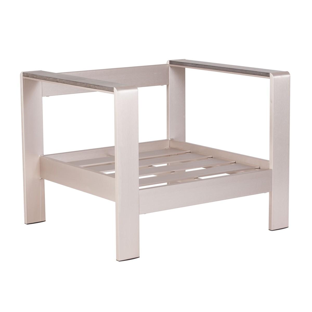Zuo Modern Cosmopolitan Arm Chair Frame - Brushed Aluminum