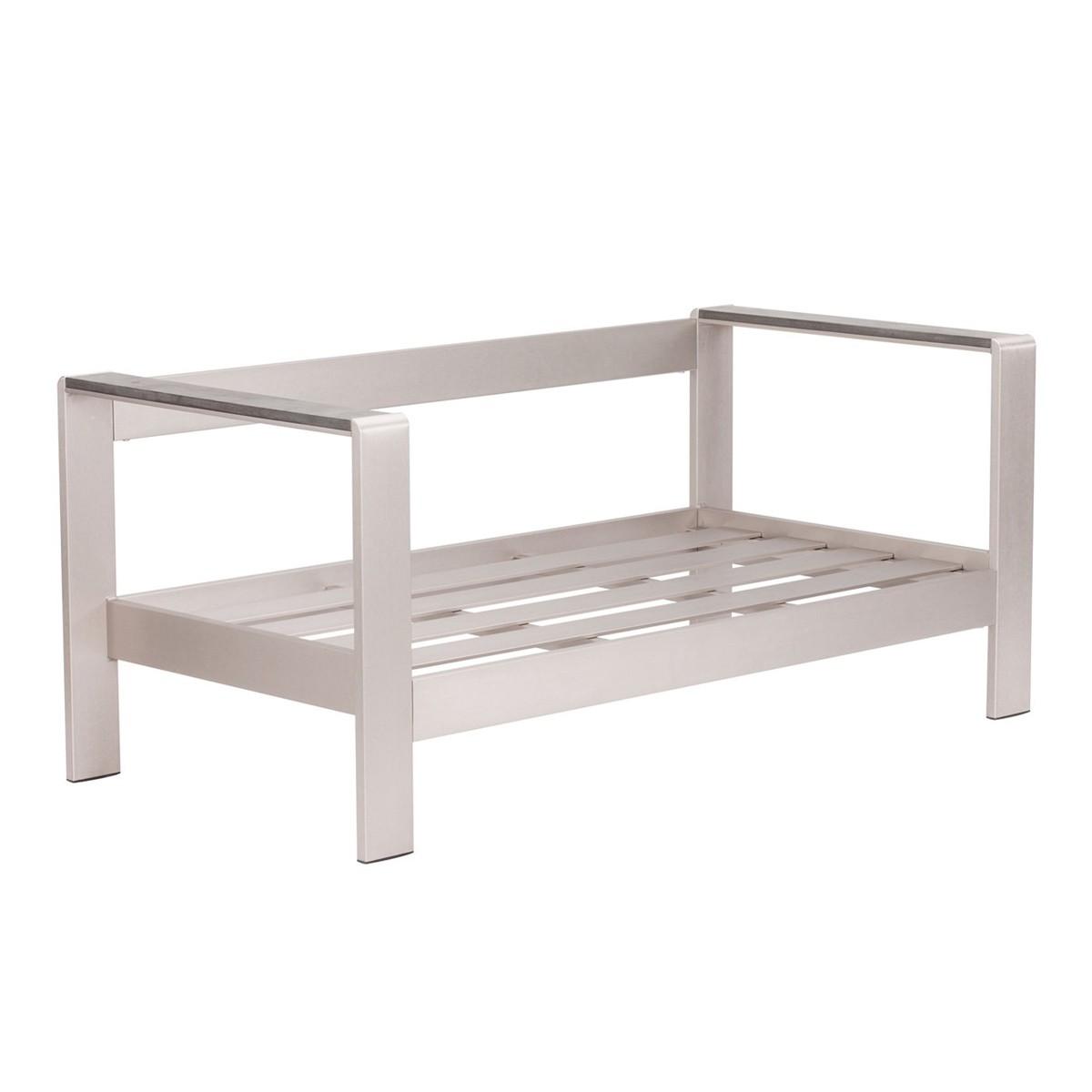 Zuo Modern Cosmopolitan Sofa Frame - Brushed Aluminum