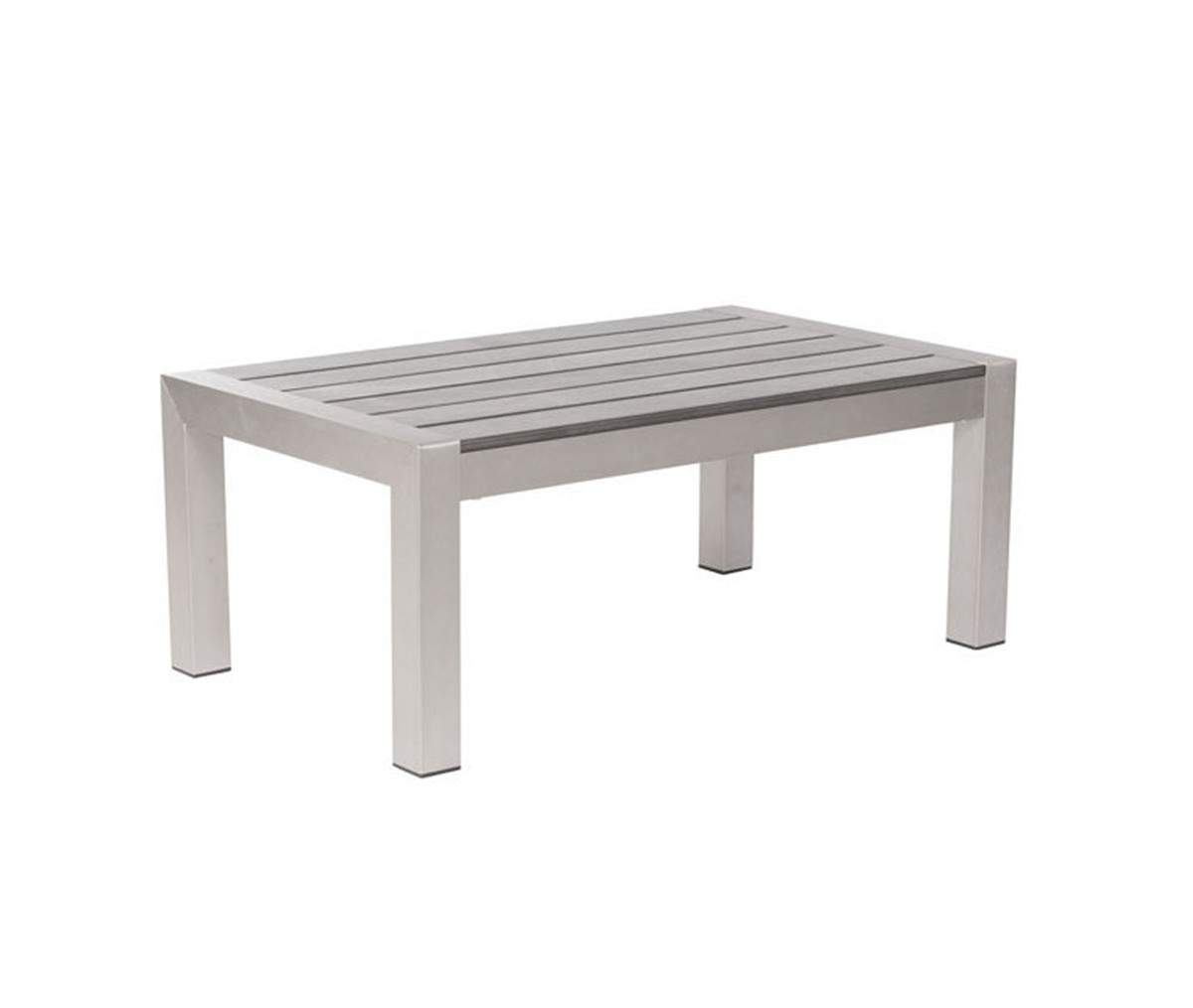Zuo Modern Cosmopolitan Coffee Table - Brushed Aluminum