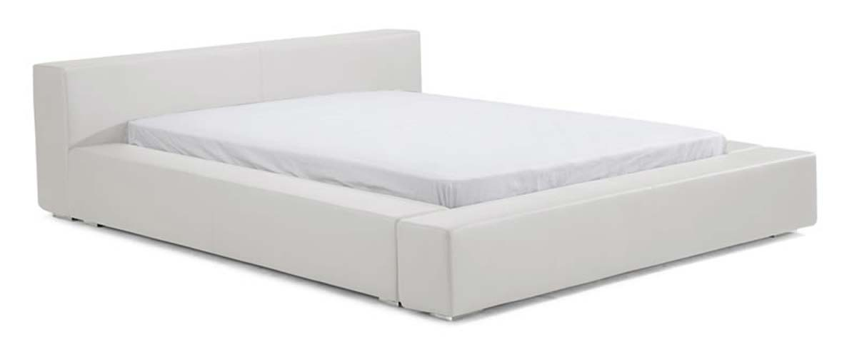 Alpha Bed Queen White - Zuo Modern 800241