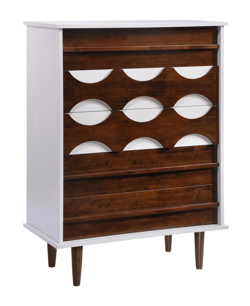 Zuo Modern Seattle High Chest - Walnut/White