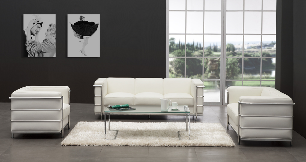 Zuo Modern Fortress Sofa   White
