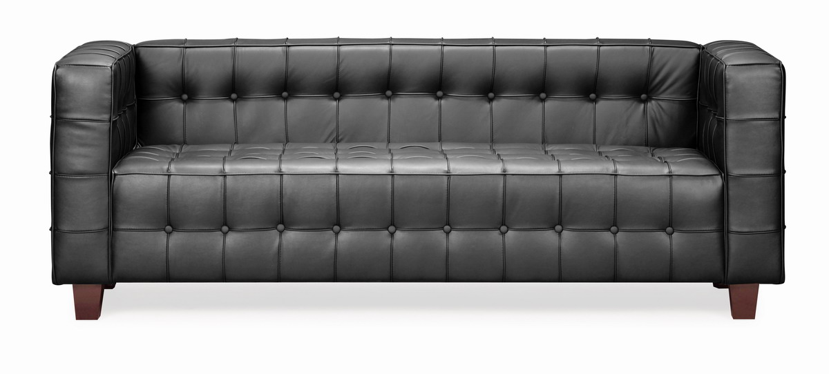 Charming Zuo Modern Button Sofa   Black