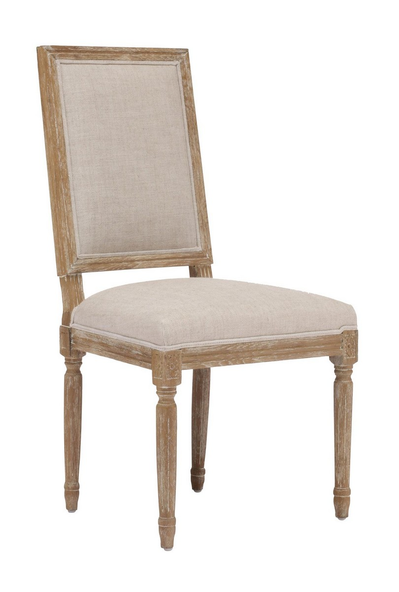 Zuo modern cole valley dining chair beige zm 98074 at for Dining chairs for less