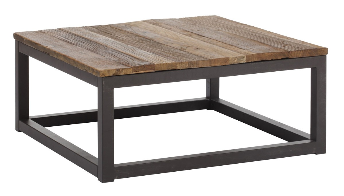 Zuo Modern Civic Center Square Coffee Table - Distressed Natural