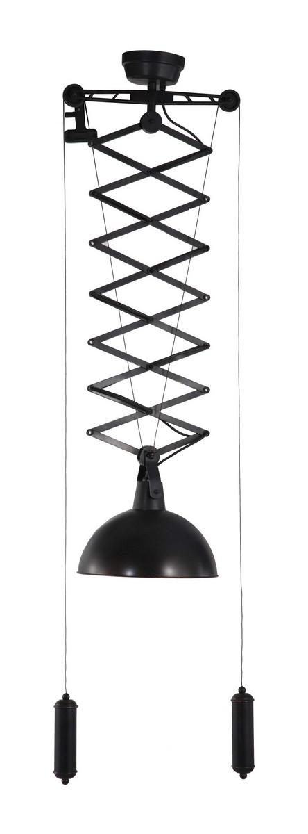 Zuo Modern Emerald Ceiling Lamp - Antique Black Gold